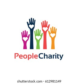 People Charity Logo Template Design