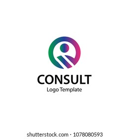 people circle consulting[[ vector logo template