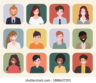 People collection. illustration vector flat design.