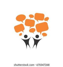 people communication chat logo