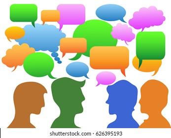 people Communication in speech bubble