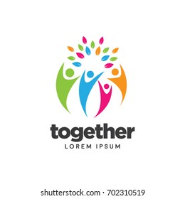 People Community Family Together Logo Symbol