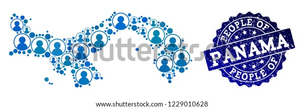 People Composition Blue Potion Map Panama Stock Vector ... on map of la republica dominicana, map of iraq, map of puerto rico, map of guatemala, map of palau, map of costa rica, map of maine, map of bolivia, map of nicaragua, map of caribbean, map of colombia, map of the bahamas, map of south america, map of honduras, map of western hemisphere, map of brazil, map of coiba, map of canada, map of jamaica, map of argentina,