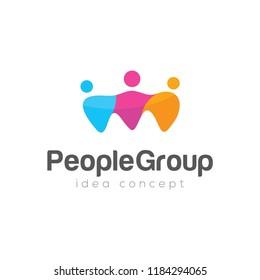 People Concept Logo Design Template