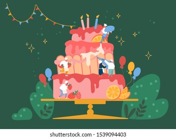 Astounding Huge Birthday Cake Images Stock Photos Vectors Shutterstock Funny Birthday Cards Online Alyptdamsfinfo