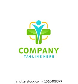 People cross medical logo design concept