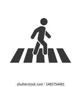 people crosswalk icon pedestrian symbol logo template