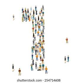 People crowd. Vector figures, 1