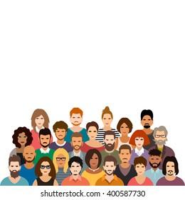 People crowd vector illustration