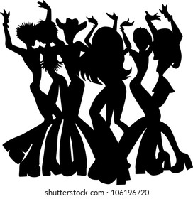 disco man stock vectors images vector art shutterstock St Patricks Day Party Invitations people dancing