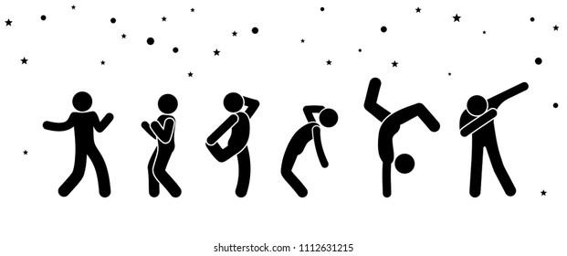 vector dancing people pictograms images  stock photos  u0026 vectors