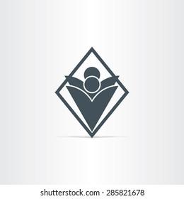 people dancing vector icon design