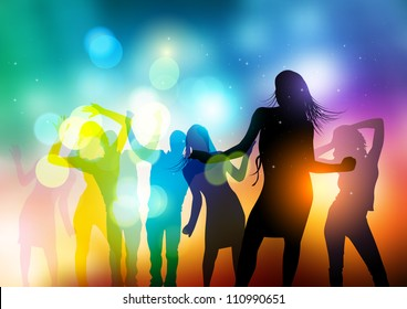 People Dancing Vector - vector illustration.
