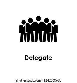 people, delegate icon. Element of business icon for mobile concept and web apps.