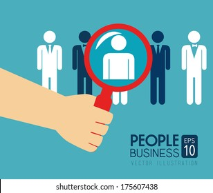 people design  over  blue background vector illustration
