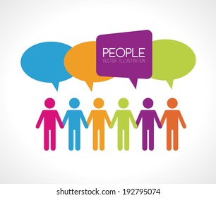 People design over gray background, vector illustration
