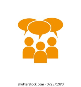 people dialog icon