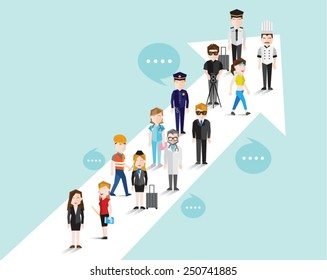 People in Different Occupation Vector Illustration