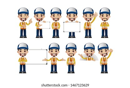 People with different poses. vector