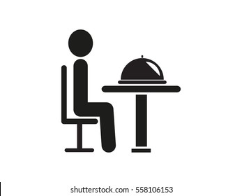 people in the dining room, icon, vector illustration eps10