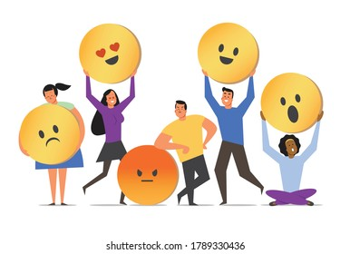 People and emotional diversity illustration vector