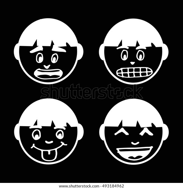 people face emotion icon illustration design