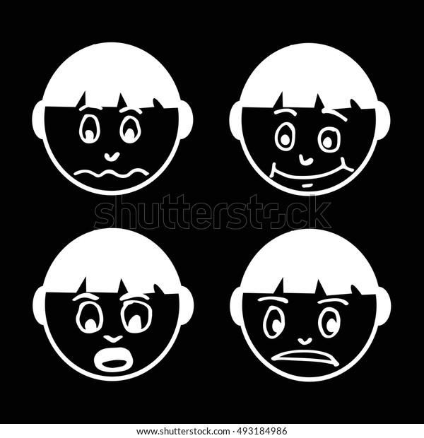 people face emotion icon illustration design