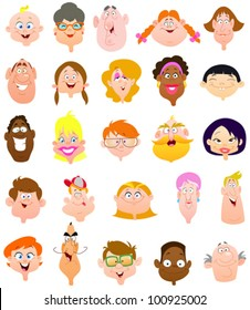 cartoon happy face images stock photos vectors shutterstock rh shutterstock com cartoon smiling faces clipart funny smiling cartoon faces