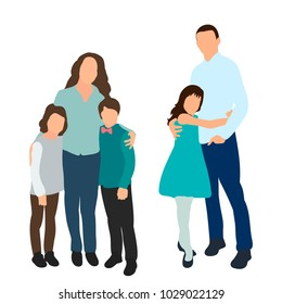 people family with children, flat style