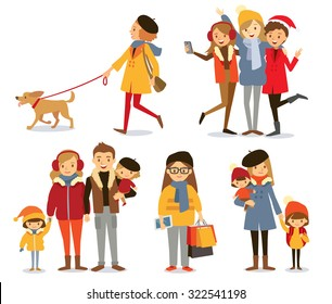 people with family and kids at the winter style