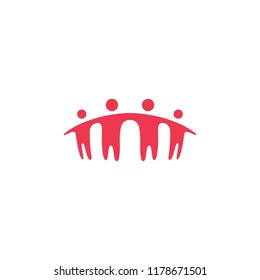 people family together human unity logo vector icon
