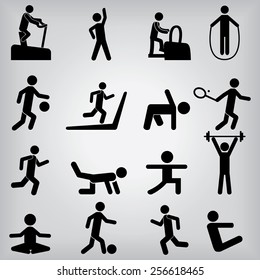 People Fitness Icons