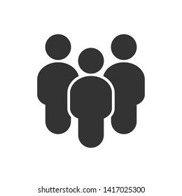 People flat style icon vector. Team work symbol. Group of humans sign For your web site design, logo, app, UI. illustration