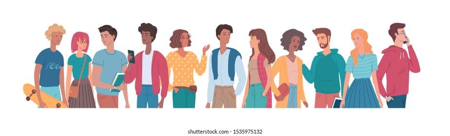 People flat vector colour set illustration - Shutterstock ID 1535975132