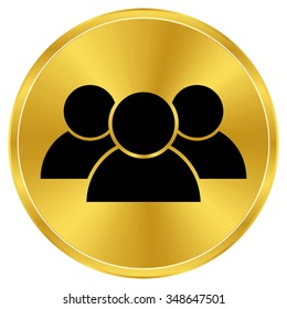 people - gold vector icon