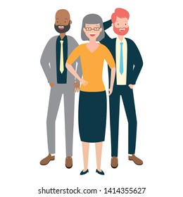 people group characters diversity on white background vector illustration