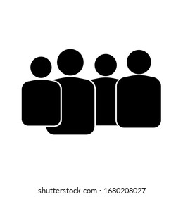 People group isolated on a white background. Vector illustration.