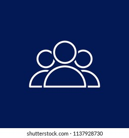 people group, team, teamwork, crowd icon for web and mobile app on blue background