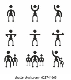 People group vector icon set