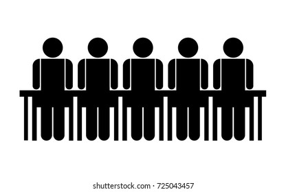 People in groups symbol, vector