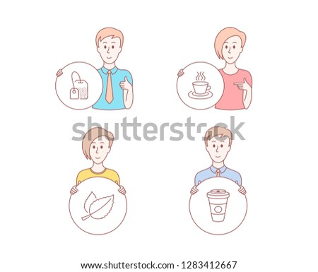 People Hand Drawn Style Set Tea Stock Vector (Royalty Free