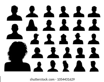 People heads silhouettes