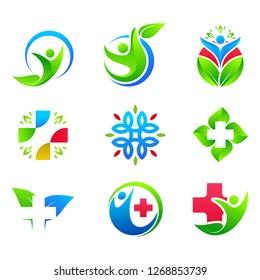 People Health Care Logo Design Template