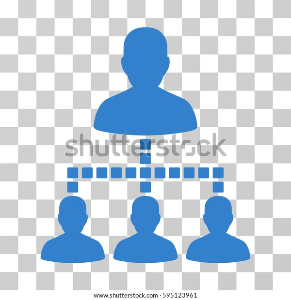 People Hierarchy icon. Vector illustration style is flat iconic symbol, cobalt color, transparent background. Designed for web and software interfaces.
