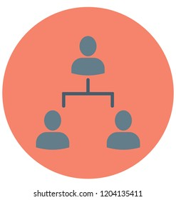 People Hierarchy Isolated Vector icon that can be easily edit or modified