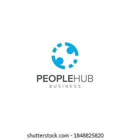People Hub Logo Vector Icon
