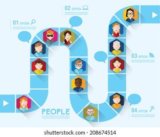 People Icon Conceptual Vector Design
