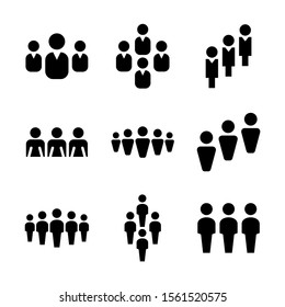 people icon isolated sign symbol vector illustration - Collection of high quality black style vector icons
