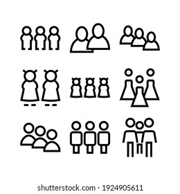 people icon or logo isolated sign symbol vector illustration - Collection of high quality black style vector icons
