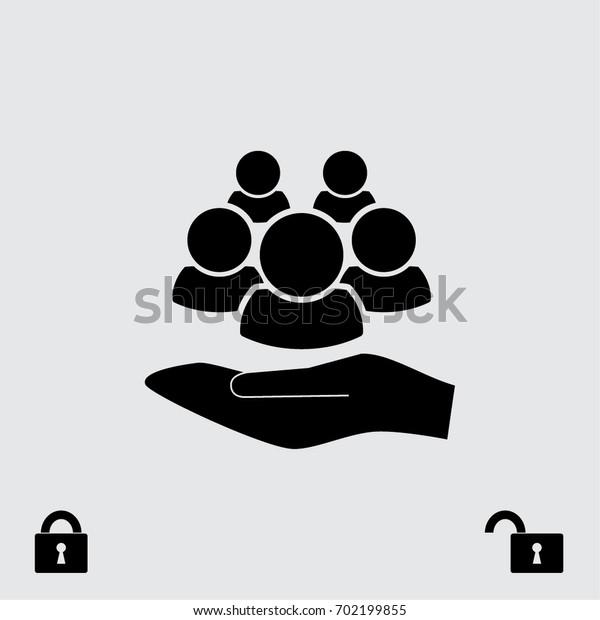 People icon, man vector illustration